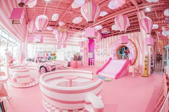 ひたすら可愛いミュージアム内のピンクに染まった空間