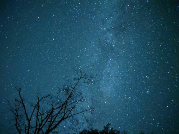 菅沼キャンプ村から見える満天の星空