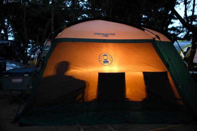 茨城県東茨城郡にある大洗サンビーチキャンプ場で借りられるテント