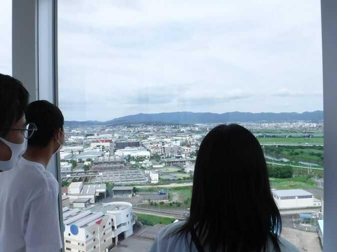 さすてな京都の展望台からは京都の街並みや自然が一望できる