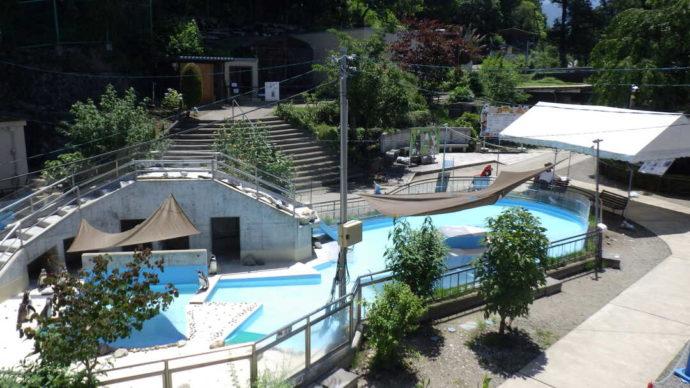 長野県須坂市にある「須坂市動物園」の園内の様子