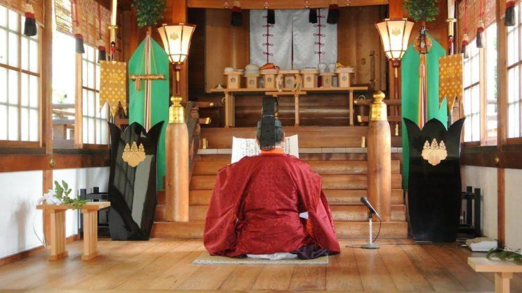 田縣神社で執り行われている神前結婚式の流れや所要時間