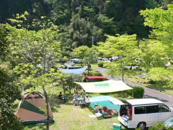 鯛生家族旅行村区画テントサイト