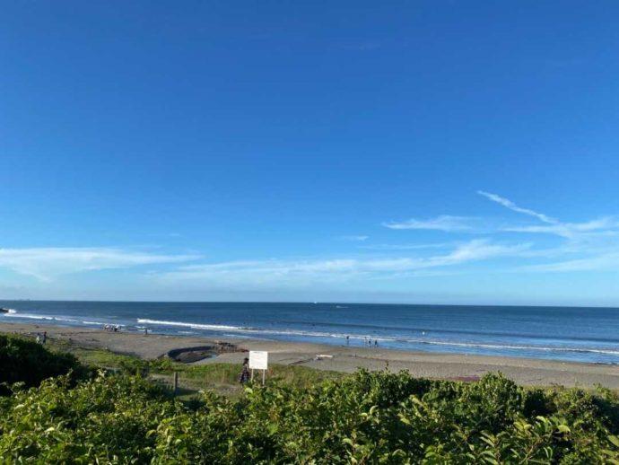 「シーサイド太東海岸バーベキュービレッジ」から見える海の様子