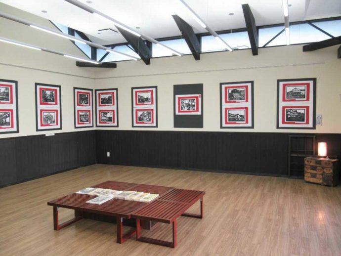 髙倉勝子美術館桜小路の多目的室で行われた地元中学生による切り絵展の別室