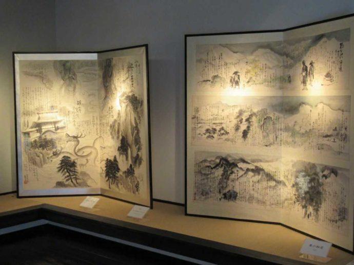 髙倉勝子美術館桜小路で展示されている水墨画