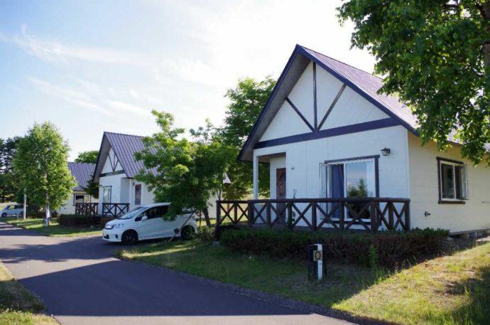 北海道網走市にある「北海道立オホーツク公園」で宿泊できるロッジ