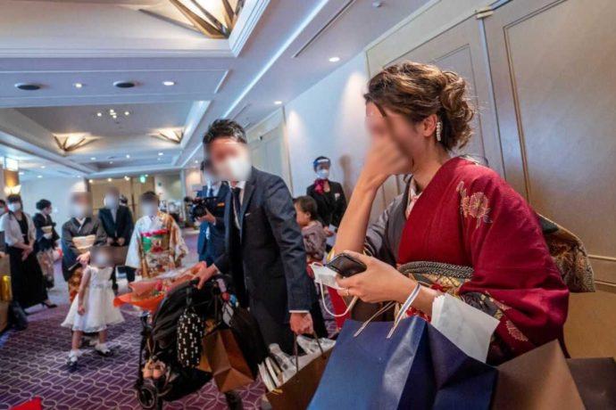 ザ・ニューホテル熊本の披露宴のお開き後の様子