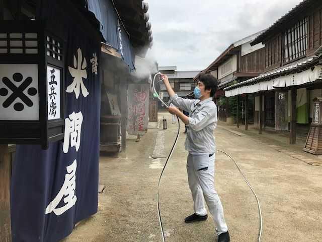 東映太秦映画村で行っている新型コロナウイルス感染症対策