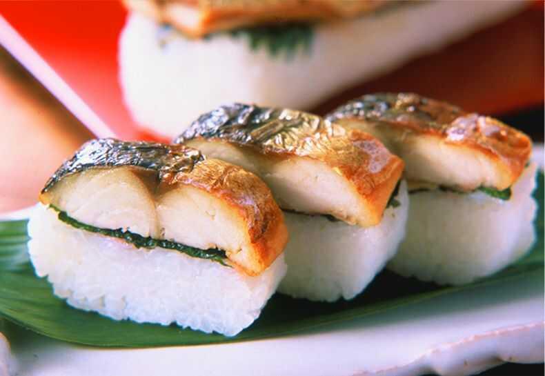 福井県坂井市アンテナショップで購入できる焼き鯖寿司