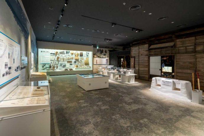 新潟県十日町市にある十日町市博物館の「雪と信濃川」展示室