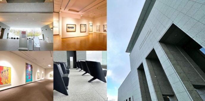 砺波市美術館の外観や展示室