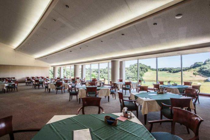 宇部72カントリークラブ江畑池コースのクラブハウスにあるレストラン