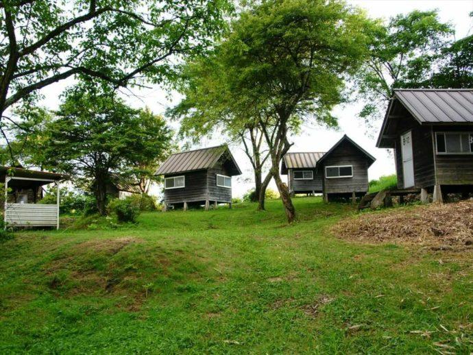 内山牧場キャンプ場のバンガロー