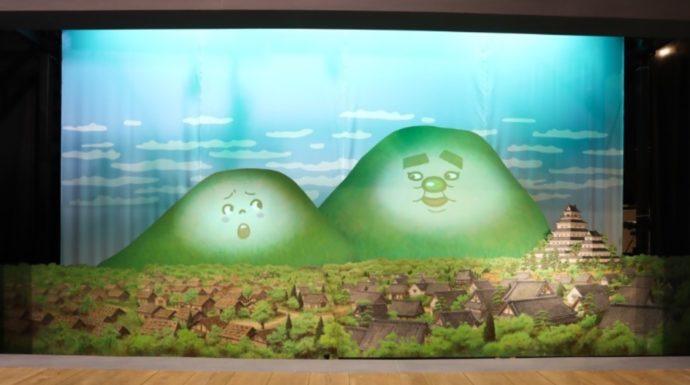 雲仙岳災害記念館がまだすドームの立体紙芝居