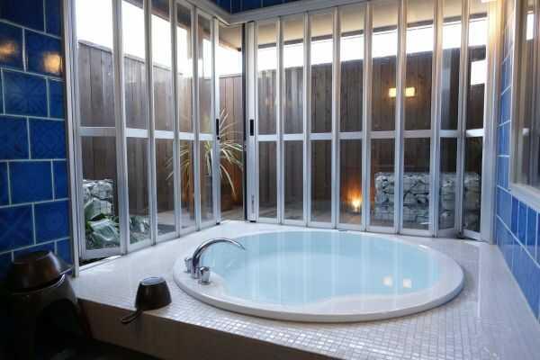 静岡県伊豆市にあるウフフビレッジの貸切風呂