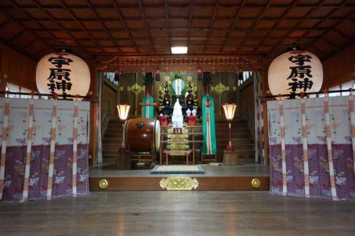 宇原神社の本殿内観
