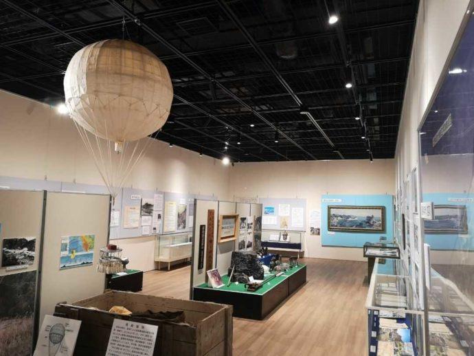 北茨城市歴史民俗資料館の第二展示室の内観