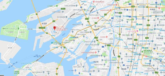 ユニバーサルスタジオジャパンへの周辺都市からの経路