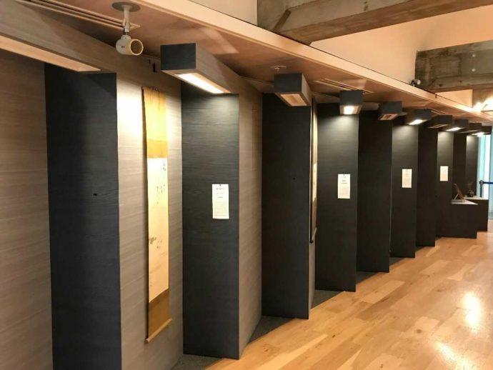 感染症対策のため、若干展示物を減らしている館内の写真