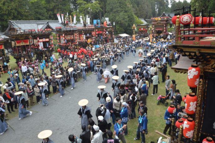馬見岡綿向神社の紹介・春の例大祭である日野祭について