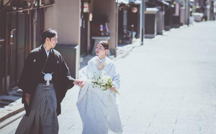 大阪市北区でフォトウェディングを企画するイノウエの和装ロケーション撮影