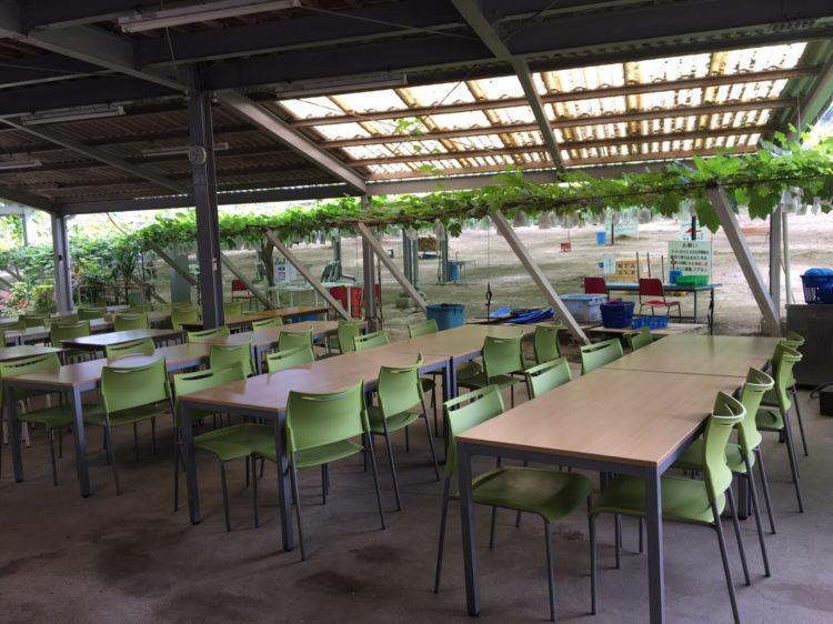 ヤマナカ果園内でバーベキュー以外に食事できる場所はありますか