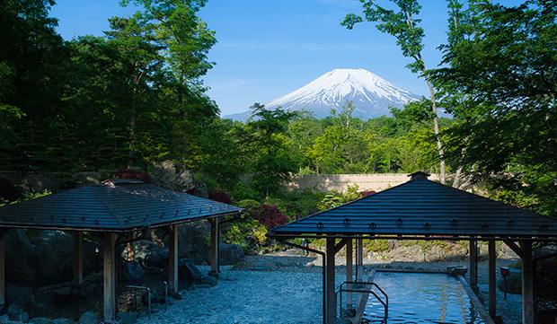 山中湖紅富士の湯にある露天風呂
