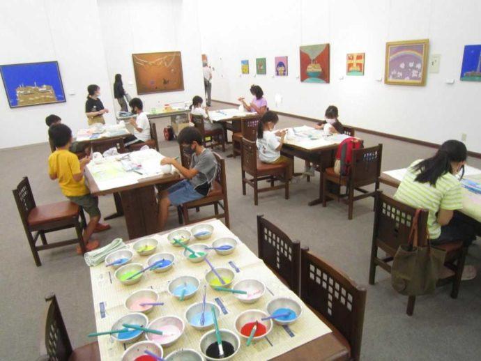 直方谷尾美術館の工作教室