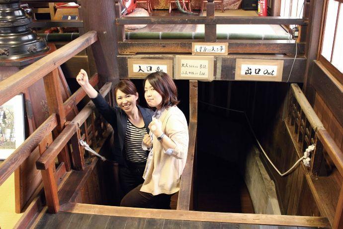 岐阜県関市にある関善光寺(宗休寺)の戒壇巡り入り口