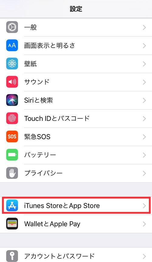 タップル誕生の退会方法_自動更新停止iPhoneの場合_iTune StoreとApp Store