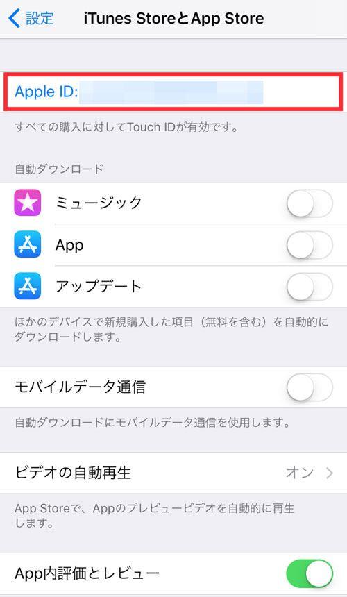 タップル誕生の退会方法_自動更新停止iPhoneの場合_Apple ID