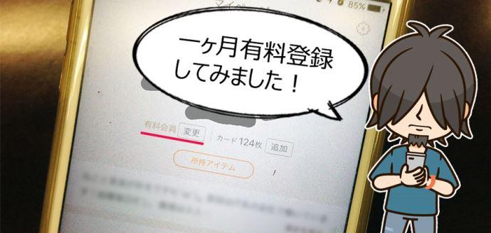タップル誕生プロフィール画面