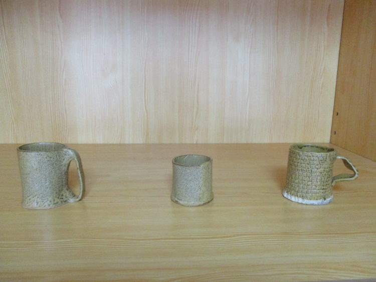 長野県駒ヶ根市の自治体婚活で行った陶芸体験で作られた作品