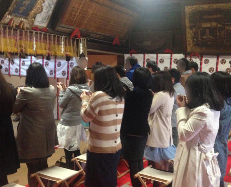 ムルーブの神社での婚活イベント