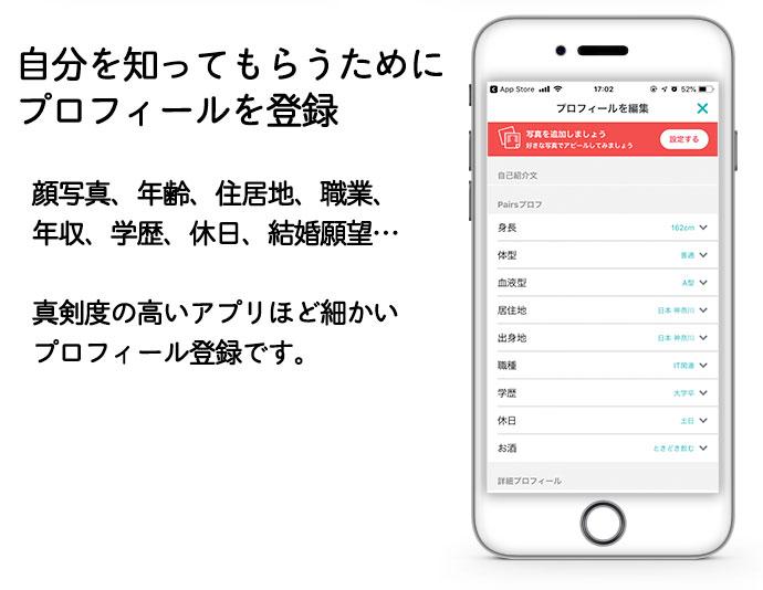 マッチングアプリで出会う流れ2:自分を知ってもらうためにプロフィールを登録する