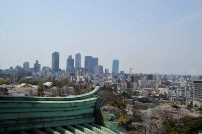 名古屋城天守閣から名古屋市内の景色